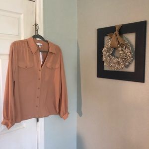 NWT topshop Nordstrom puff sleeve blouse sz 8